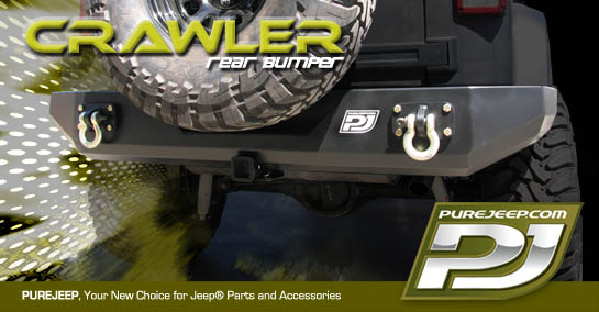 PUREJEEP 2007 Jeep JK Wrangler Crawler Rear Bumper