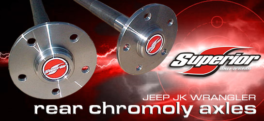 Superior Axle Jeep JK Wrangler Sahara Rear Axles