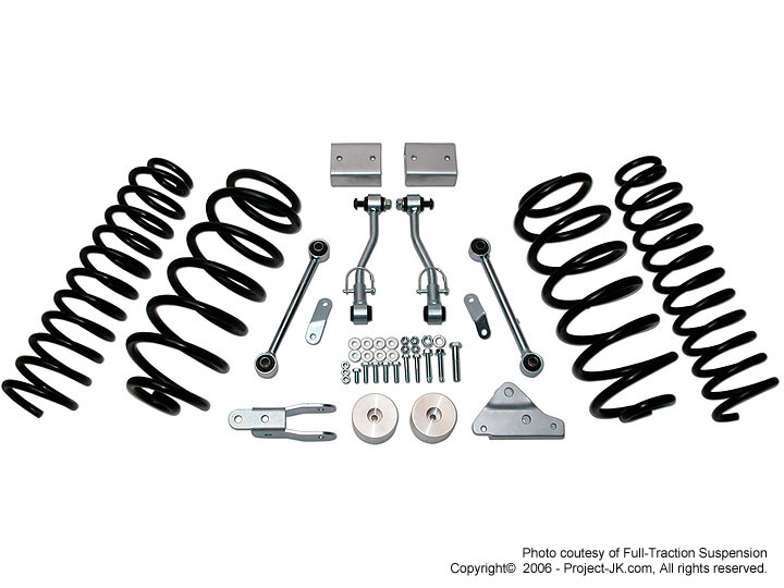 full traction 2007 jeep jk wrangler suspension lifts